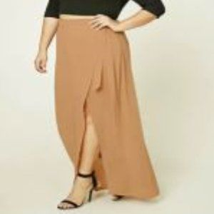 Forever 21 Plus Size Wrap Front Maxi Skirt 2X